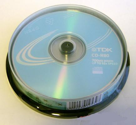 Диск TDK CD-R RECORDAPLE 10 шт